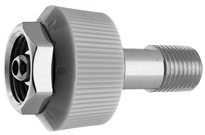 "DISS HT NUT AND NIPPLE Air to 1/4"" M Medical Gas Fitting, DISS, 1160-A, Medical Air, Breathing Air, DISS 1160-A to 1/4 male"