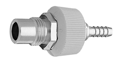 "DISS BODY ADAPTER WAGD EVAC to 1/4"" Barb Medical Gas Fitting, DISS, 2220, Waste Anesthetic Gas Disposal, Waste Gas Evacuation, DISS 2220 to hose barb"