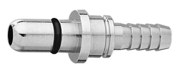 "DISS NIPPLE w/O-RING WAGD EVAC to 5/16"" Barb Medical Gas Fitting, DISS, 2220, Waste Anesthetic Gas Disposal, Waste Gas Evacuation, DISS 2220 to hose barb"