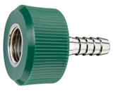 "DISS HT NUT AND NIPPLE O2 to 1/4"" Barb Medical Gas Fitting, DISS, 1240, O2, Oxygen, DISS 1240 to hose barb"
