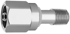 "DISS  NUT AND NIPPLE CO2 to 1/4"" M Medical Gas Fitting, DISS, 1080-A, CO2, Carbon Dioxide, breathing mixture"