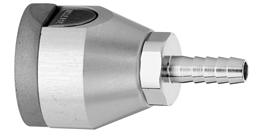 "F WAGD EVAC Puritan Quick Connect  to 5/16"" Barb Medical Gas Fitting, Medical Gas Adapter, puritan quick connect, puritan Bennett quick connect, Waste Anesthetic Gas Disposal, Waste Gas Evacuation, WAGD quick connect, WAGD quick-connect, puritan female to hose barb"