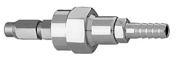 "M O2 Schrader Quick Connect to 1/4"" Barb Medical Gas Fitting, Medical Gas Adapter, schrader quick connect, O2, Oxygen quick connect, Oxygen quick-connect, schrader male to hose barb"